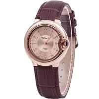 Одежда высшего качества брендовые Роскошные Для женщин Элегантный Relojs De Marca 3ATM Водонепроницаемый часы Для женщин Япония движение часы