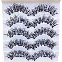 Женская мода грациозный макияж ручная работа 5 пар натуральные длинные накладные ресницы для наращивания изысканные ресницы для волос