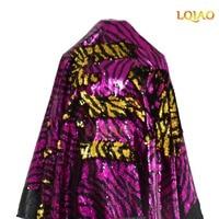 130cm*90cm Mermaid Reversible Sequins Stripes Fabric for Patchwork Pillows Cushions cover Cloth Dress Tissue Zebra Fuchsia Gold