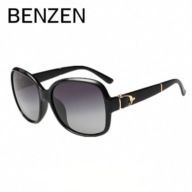 BENZEN Women Sunglasses Polarized Elegant  Female Sun Glasses  Black Oculos De Sol Feminino  Gafas De Sol With Case 6060
