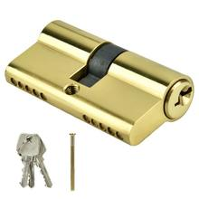 Door Cylinder Biased Lock 60mm Security Copper Dual Open Lock Cylinder Anti-theft Entrance Brass Door Lock Cylinder with Keys все цены