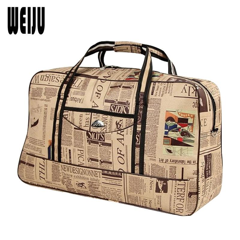 WEIJU Men Travel Bags Large Capacity Casual Traveling Duffle Bag 2017 New Fashion Women Travel Bag Waterproof Hand Bags