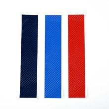 3 шт. Передняя решетка для почек наклейка для BMW E46 E90 E60 E87 M3 M5 Виниловая Наклейка Автомобильные аксессуары светильник синий красный спортивный в полоску