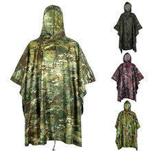 Camouflage-Cover Poncho Waterproof Hunting-Clothes Military Multifunction Emergency