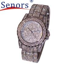 Esencial 2017 Plata de La Manera Relojes De Lujo Mujeres Rhinestone De Cerámica de Cristal de Cuarzo Relojes de Pulsera de Señora Envío de La Gota