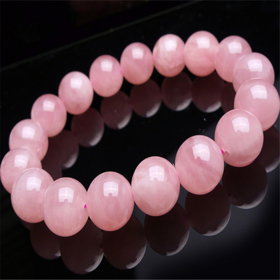 2018 Newly Natural Madagascar Quartz Crystal Round Beads Bracelet Drop Shipping AAA 13 mm Trendy Women Femme Genuine Precious trendy letter heart round rhinestone bracelet for women