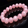 Free Shipping AAA 13 mm Women Femme Genuine Precious Natural Madagascar Rose Quartz Crystal Round Beads Bracelet