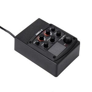 Image 4 - Cherub GT 6 guitarra acústica preamp piezo captador 3 band eq equalizador lcd sintonizador com reverb/atraso/coro/largo