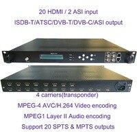VEK-4782I-20/24 1080 P мульти HDMI к DVB-C/DVB-T/ATSC/ISDB-T модулирующий преобразователь цифровой ТВ головное устройство qam-модулятор
