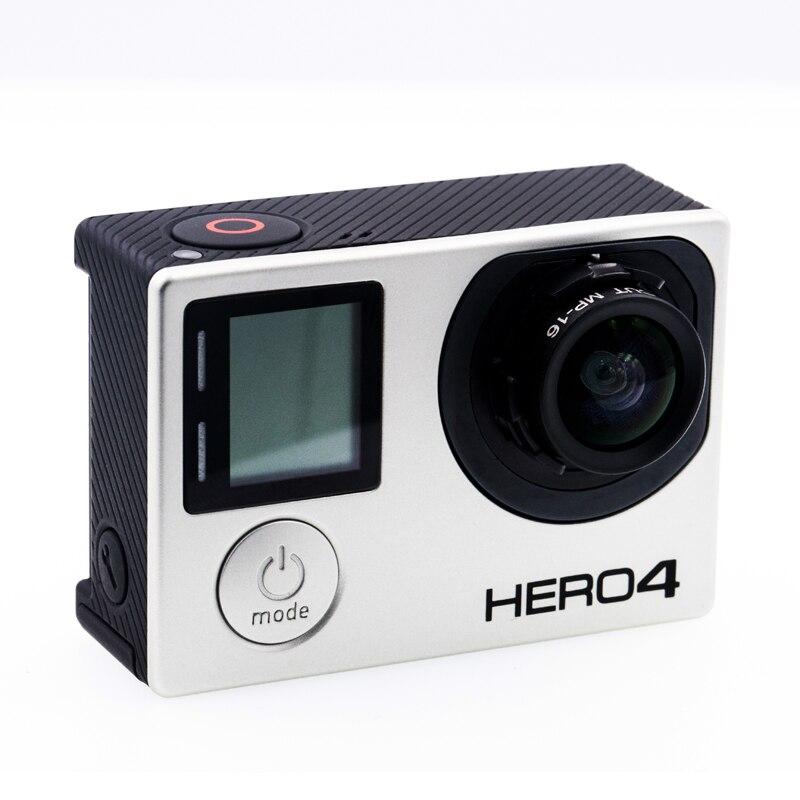 GoPro Hero4 Noir Caméra avec Personnaliser 12mm Aucun Objectif De Distorsion 1/1. 8 pouces f/2.5 34 Degrés HFOV 10MP Haute Résolution Lentille Changement