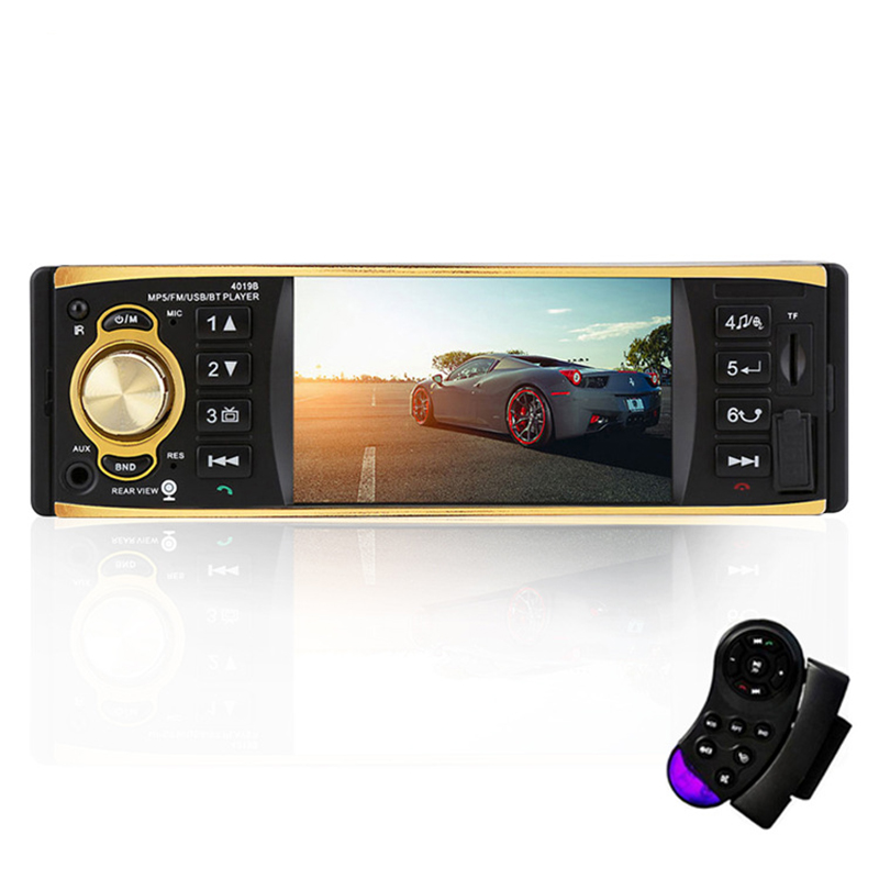 Autoradio Auto 4 pouces HD voiture stéréo Bluetooth MP5 véhicule MP5 Machine enfichable U lecteur de disque haut-parleur Radio Coche affichage - 3