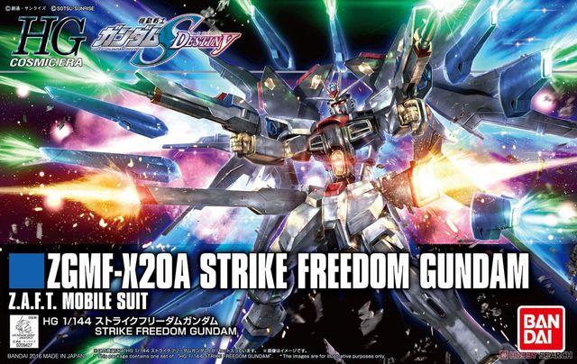 Bandai Gundam HGCE 201 HGUC 1/144 ZGMF X20A Sciopero Freedom Mobile Suit Assemblare Modello Kit Action Figure In Plastica Modello