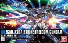 Bandai gundam hgce 201 hguc 1/144 ZGMF X20A greve liberdade terno móvel montar modelo kits figuras de ação modelo plástico