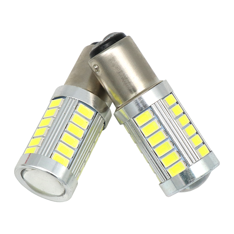2pcs led Chips 1157 BAY15D Bulbs 33 led 5630 smd High Power lamp brake Lights Red p21/5w led car bulbs Car Light Source 12V