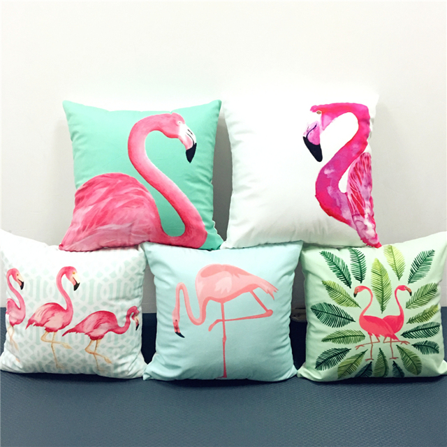 Tropical Plants Leaves Flamingo Bird Cushion Covers Watercolor Painting Summer Vibes Pillow Cover Decorative Sofa Pillow & Aliexpress.com : Buy Tropical Plants Leaves Flamingo Bird Cushion ... pillowsntoast.com