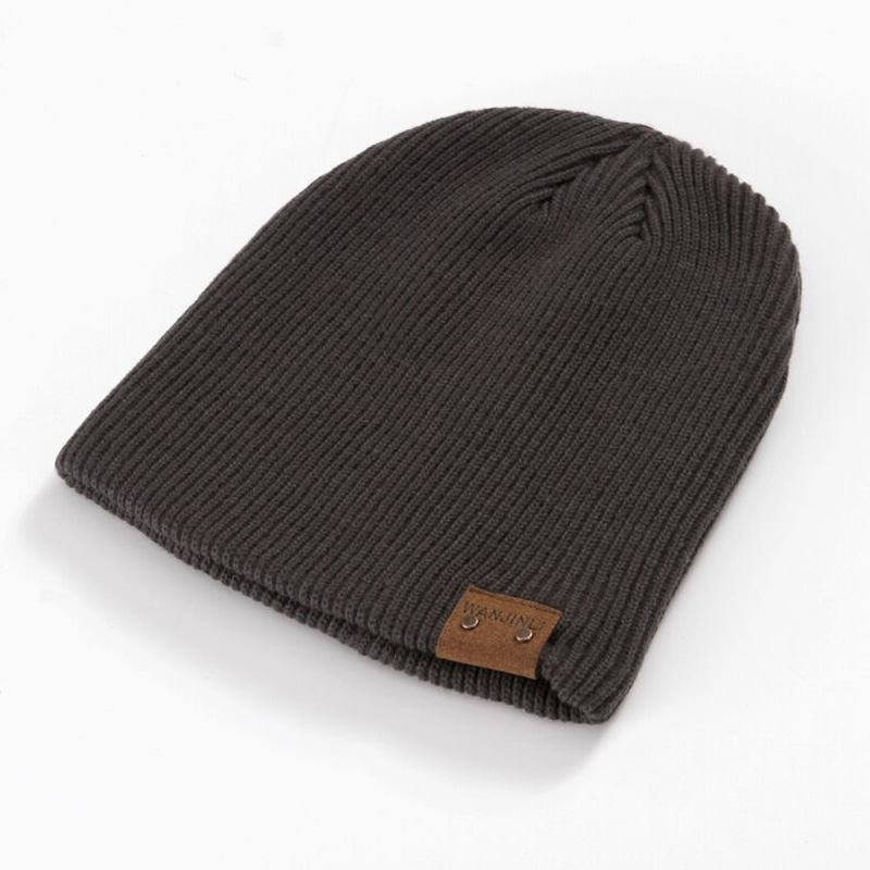 1 Pcs 2017 New Winter Keep Out The Cold Warm Stripe Double Fabr Knitted Cap Brand Cotton Skullies Beanies Hats For Men 5 Colors europe and the united states long sleeve hooded keep out the cold winter to keep warm and comfortable cotton coat