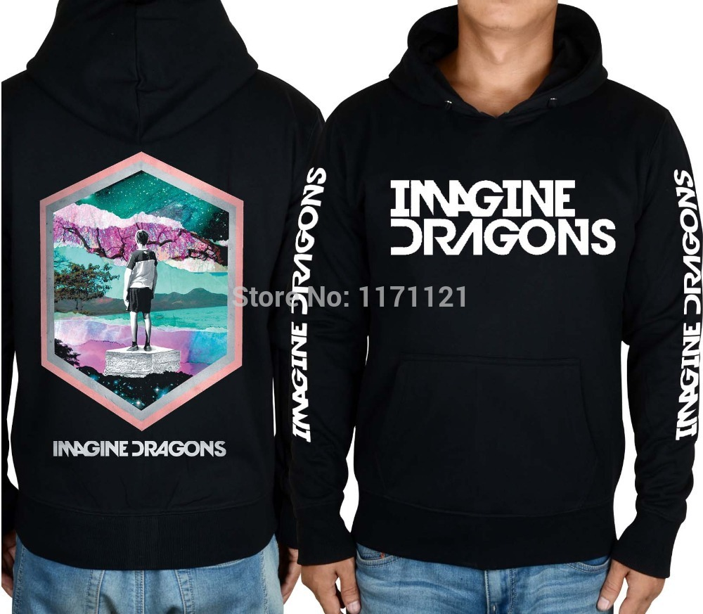 Free shipping Imagine Dragons Indie Rock Alternative Rock punk band NEW font b hoodie b font
