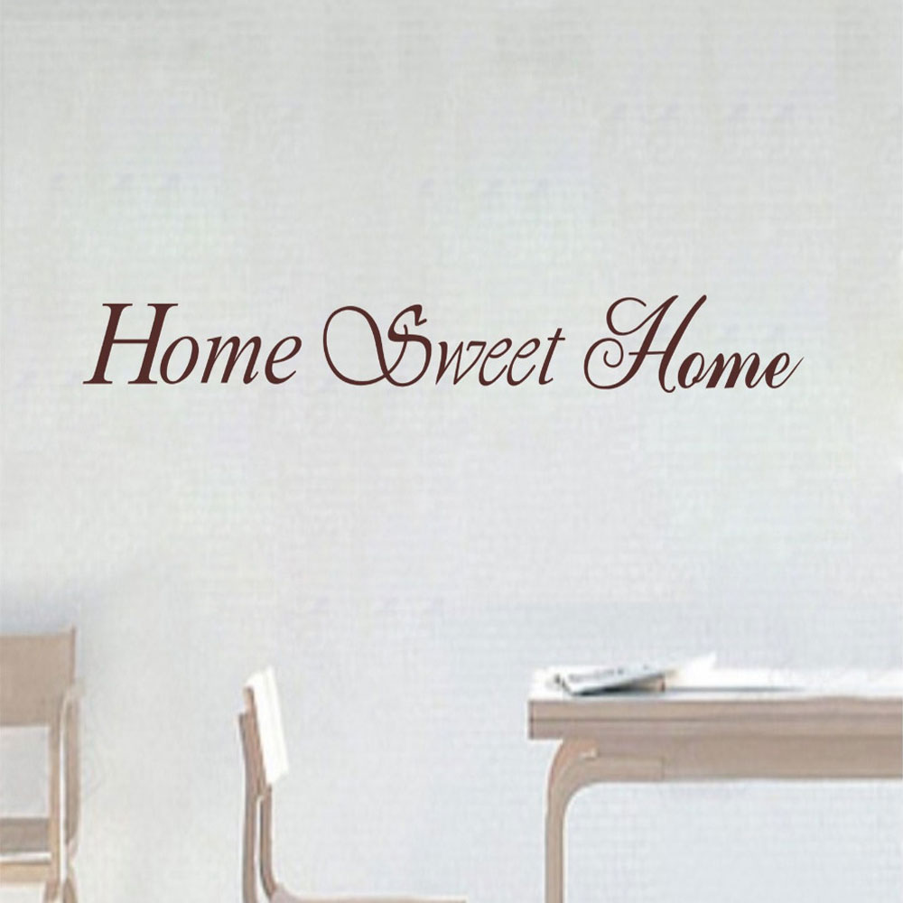 Perfect Aliexpress.com : Buy Home Sweet Home Vinyl Sticker Decal Wall QUOTE Decor  On Wall Decal Sticker Vinyl Wall Room Decal From Reliable Decoration On Wall  ... Part 21