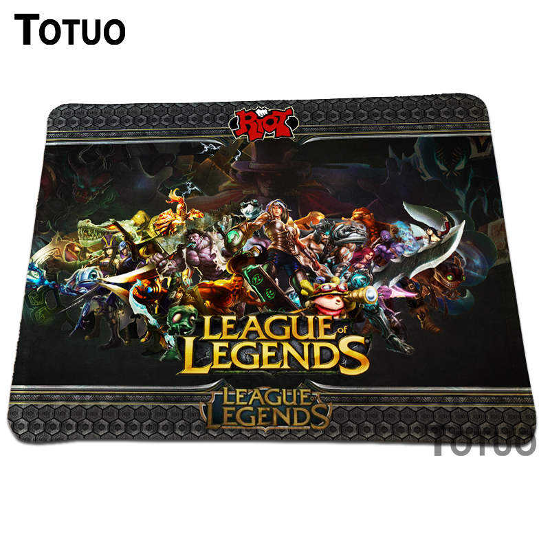 New Anti-Slip League of Legends Cool Mouse Pad Comfort Soft Rubber Rectangle PC Computer Optical Mousepad Gaming Speed Mice Mat ...