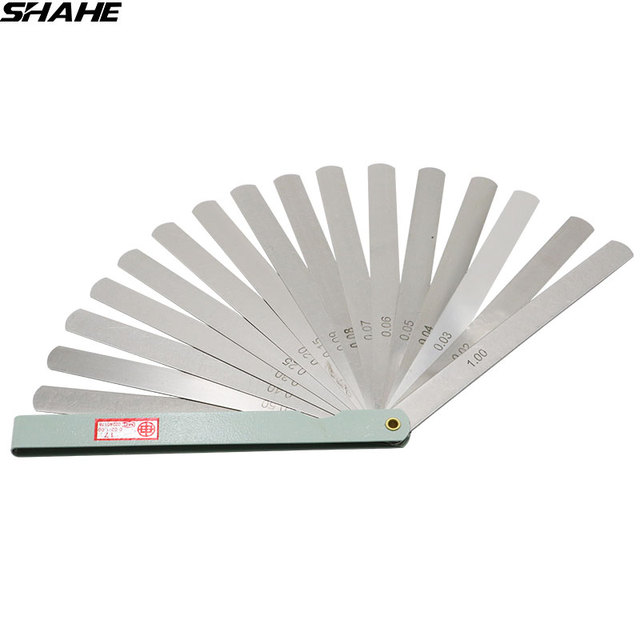 Shahe 150 Mm Length Metric Feeler Gauge 002 100 Mm Feeler Gauge 17