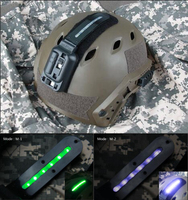 Fashion New Tactical Hunting White Green Led Weapon Light Flashlight Lamp For Helmet CL15 0063