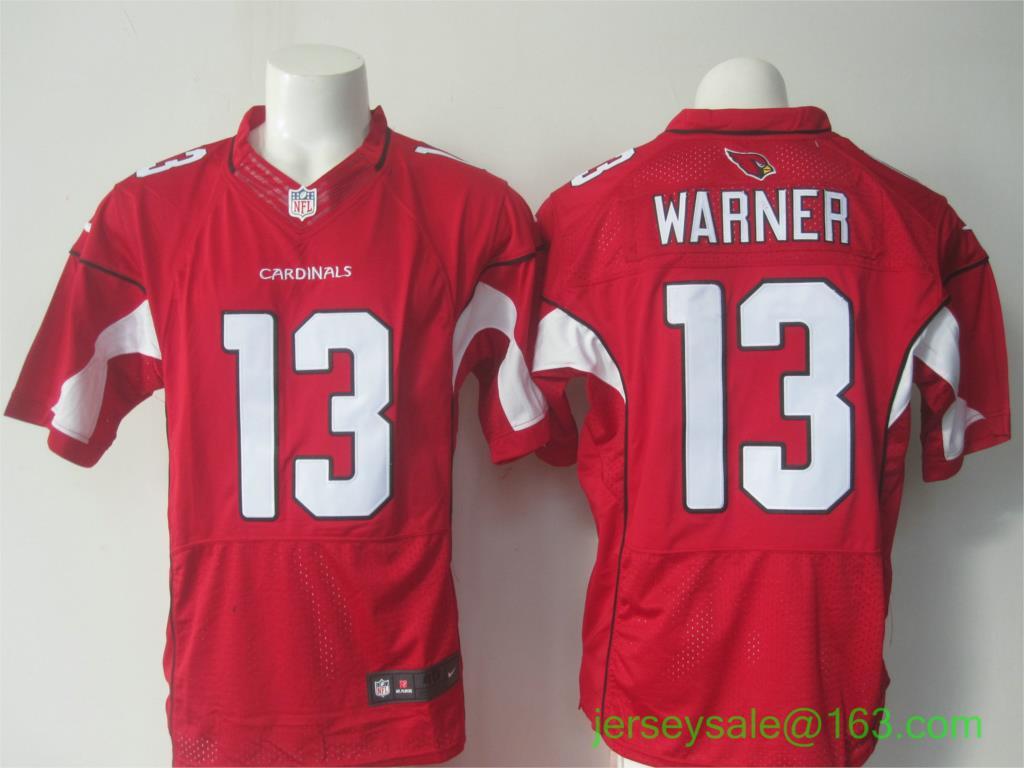 Men's Arizona Cardinals Kurt Warner #13 Pro Line Black Gold Collection Stitched NFL Jersey 50th Patch