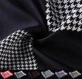 Hn13 хаундстут платок 100% натуральный шелковый атлас мужская ханки мода классические свадебные ну вечеринку карманный площадь