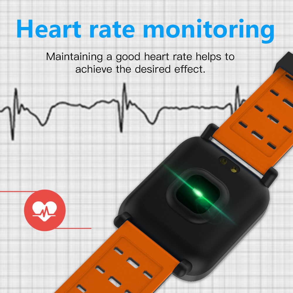 Smart Watch Heart Rate Monitor Sport Fitness Tracker Sleep Monitor Waterproof Sport Watch Band for IOS Android Gifts in Smart Watches from Consumer Electronics