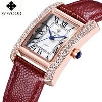 Relogio 2015Skmei Fashion Casual Square Watch Women Luxury Watches Waterproof Leather Vintage Ms Roman Numerals Quartz