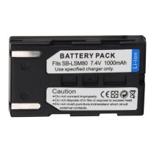 1000mAh SB-LSM80 Camera Repalcement Battery Pack For Samsung VP-DC161 VP-DC163 VP-DC165WB VP-DC565WBi VP-DC563i SC-D351 SC-D353