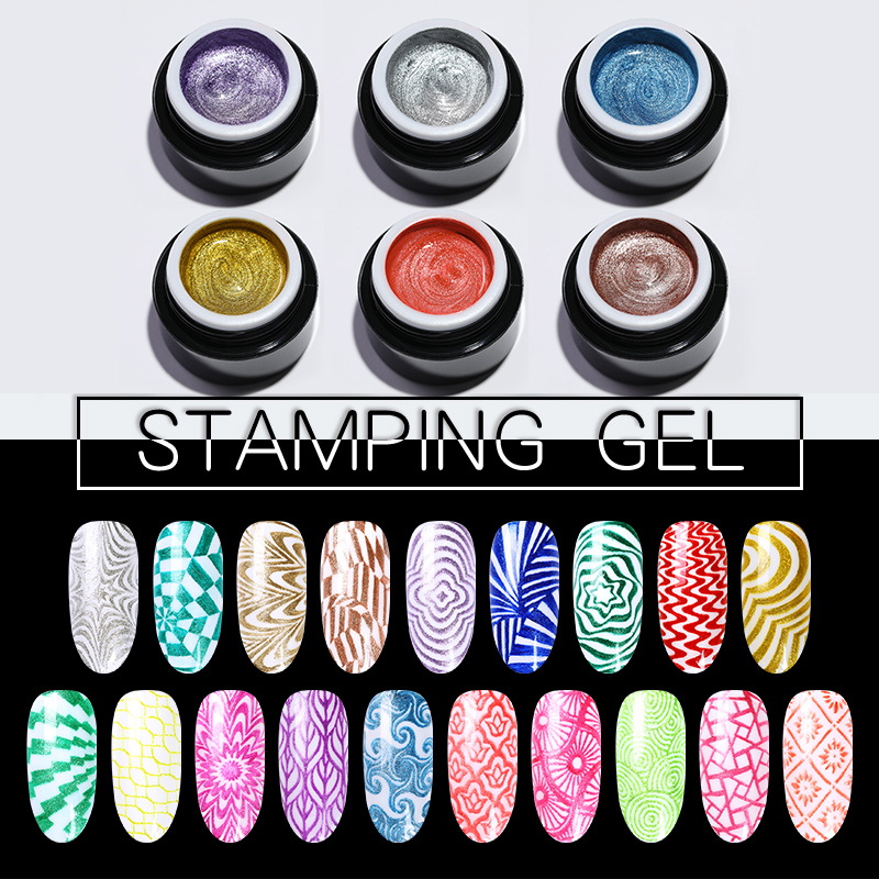 Born Pretty Nail Stamping Gel 5ml Gel Polish Shimmer
