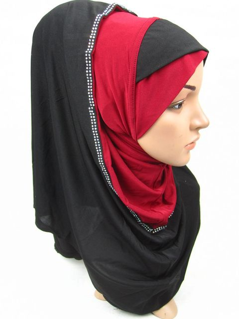 JN004  free shipping muslim polyester jersey hijab,long islamic hijabs