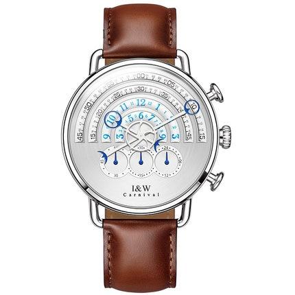 Carnaval IW 8816G nouveau Style hommes Concept chronographe montre à Quartz montre-bracelet