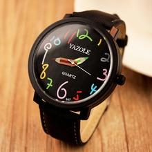 Yazole 2017 Women Watch Fashion Colorful Pencil Pattern Casual Quartz Watch Famous Brand Female Clock Wristwatch Relojes Mujer