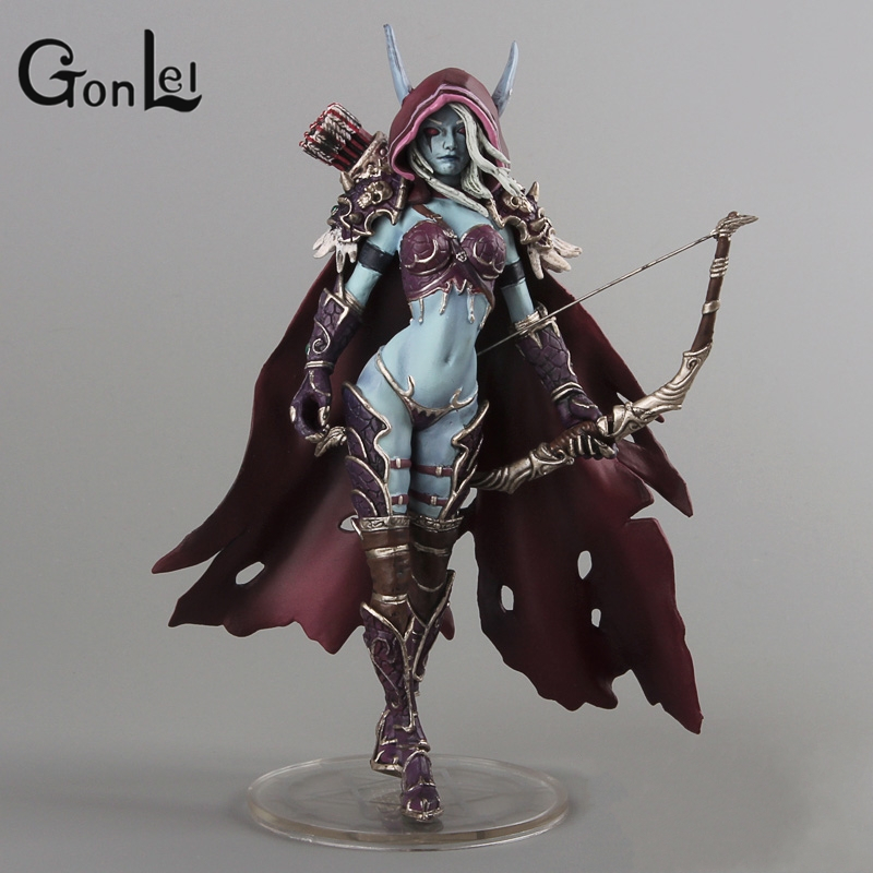 GonLeI WOW Darkness Ranger Lady Sylvanas Windrunner 7 PVC Action Figure Collection Model Toy beautiful darkness