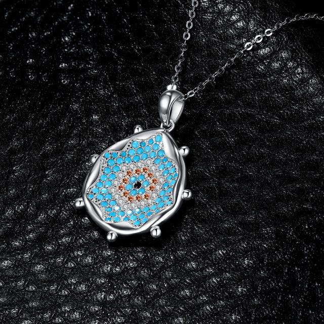 Water Splash Vortex Turquoise Pendant