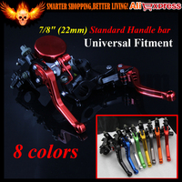 8 Colors 7 8 22MM CNC Clutch Levers Motorcycle Brake Pump Master Cylinder Reservoir For DUCATI