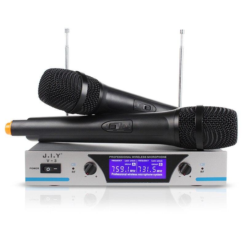Microphone karaoké sans fil portable lecteur karaoké maison karaoké système de mixage d'écho son numérique mélangeur Audio Machine de chant V3 +