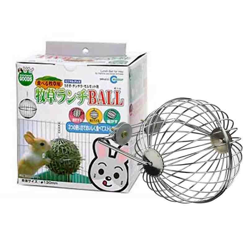 Little pet supplies iron hay rack food bowl ball toy grass