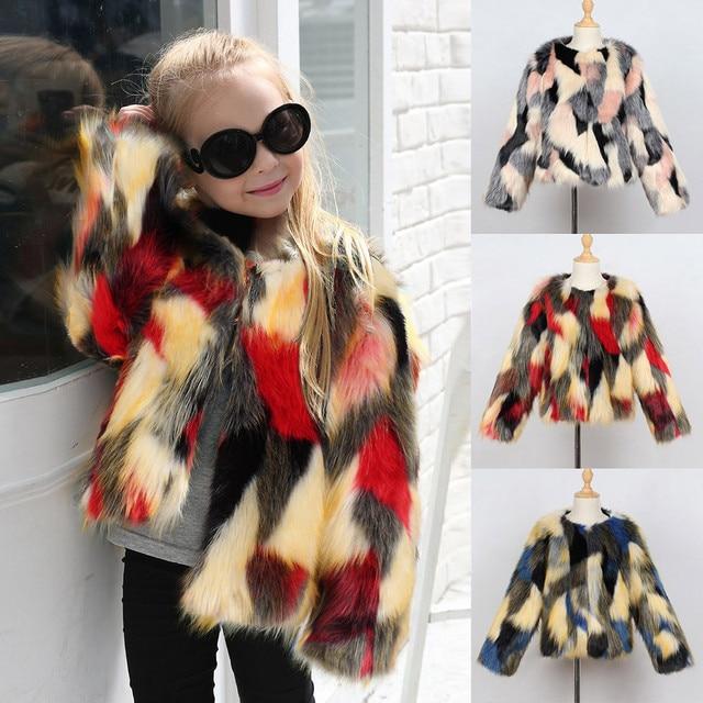 b5d27258e Free Shipping Fashion Toddler Kids Baby Girl Faux Fur Thick Warm ...