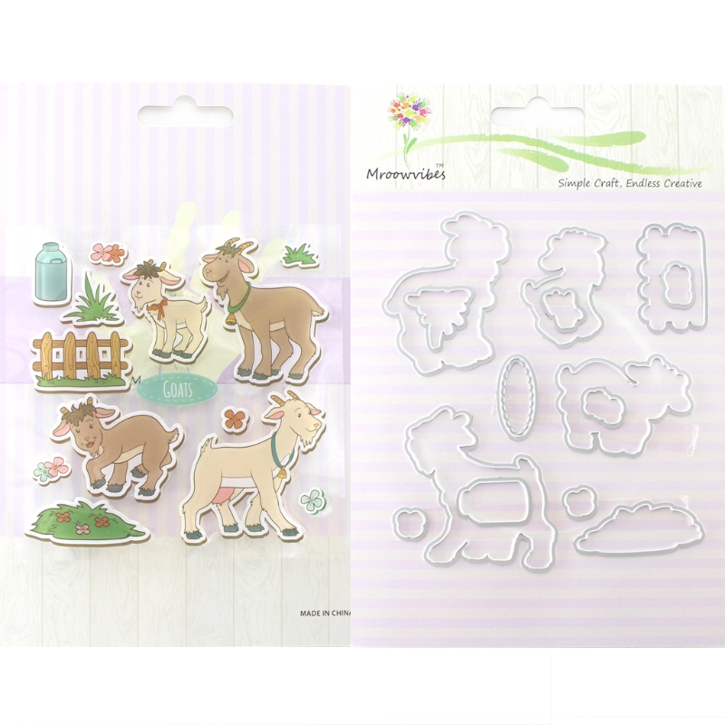 Silicone Clear Stamp+Metal Cutting Dies Stencil DIY Scrapbook Paper Ablum #Buy