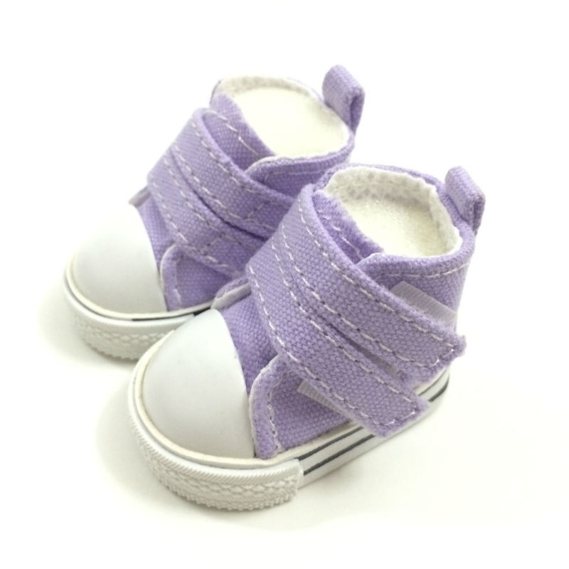 BEIOUFENG 5CM Mini Toy Canvas Shoes 1/6 BJD Doll Shoes Accessories for Dolls,Fashion Causal Sneakers Gym Shoes for Dolls 2 Pair