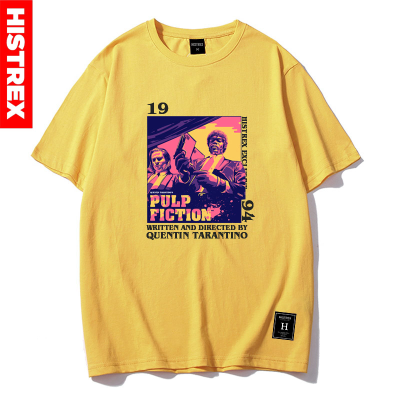 HISTREX pulpe fiction Quentin Tarantino 100 coton hommes t-shirt femmes t-shirts Harajuku HipHop mode Fun t-shirt vêtements TR7O4