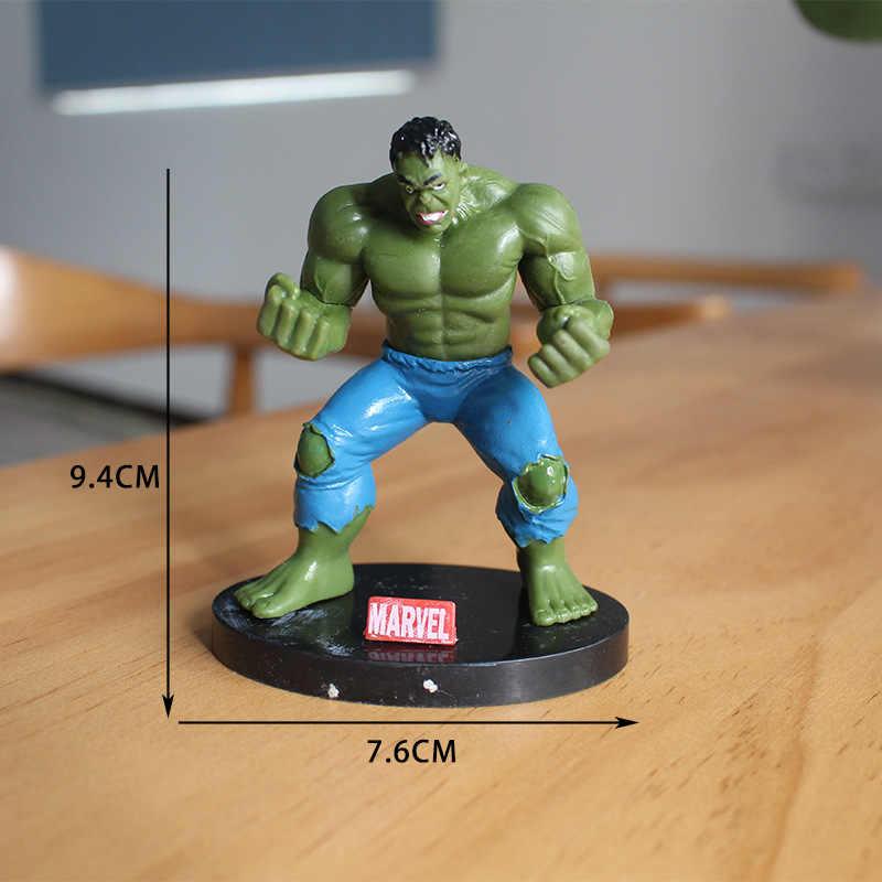4 pçs/lote 10cm 4 Miniaturas Marvel The Avengers Figuras de Ação PVC Figuras Crianças Brinquedos hulk Capitão América superman Spiderman