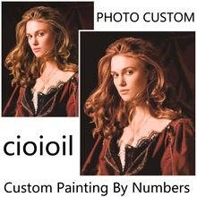 Personalidade foto personalizado diy pintura a óleo pinturas por números personalizado desenho kits dropshipping presente cores por números acrílico