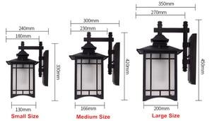 Image 3 - Retro Chiếu Sáng Ngoài Trời Tường Đèn Hiên Đèn Đèn Lồng Nhật Bản Không Thấm Nước Hành Lang Tường Vườn Ánh Sáng Ngoài Trời Đèn