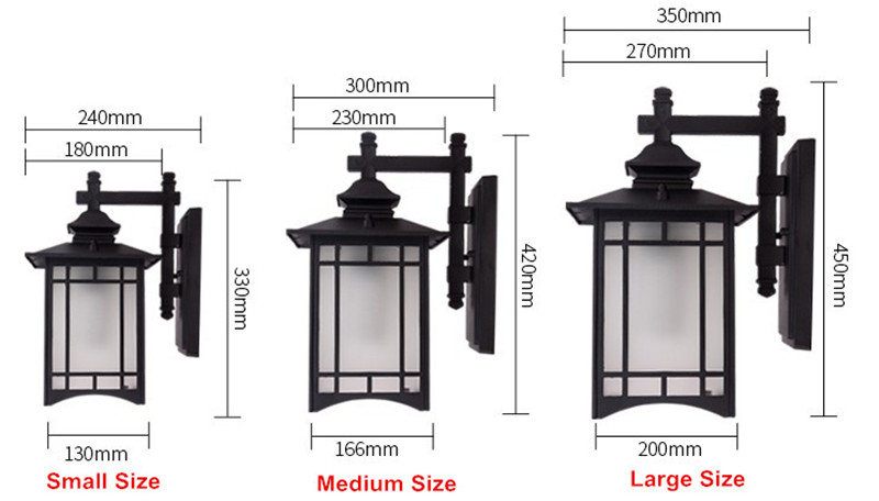 Image 3 - Retro Outdoor Lighting Wall Lamps Porch Lights Japanese Lantern Waterproof Corridor Garden Wall Light Outdoor Luminaire-in Outdoor Wall Lamps from Lights & Lighting