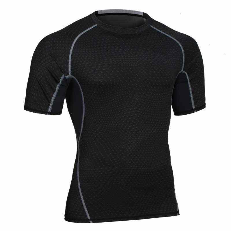 2018 الرجال الرياضية تشغيل اليوغا تجريب الجمنازيوم اللياقة بلايز تي تدريب الذكور سريعة الجافة ضغط ممارسة muslce الاجسام تي شيرت MA20