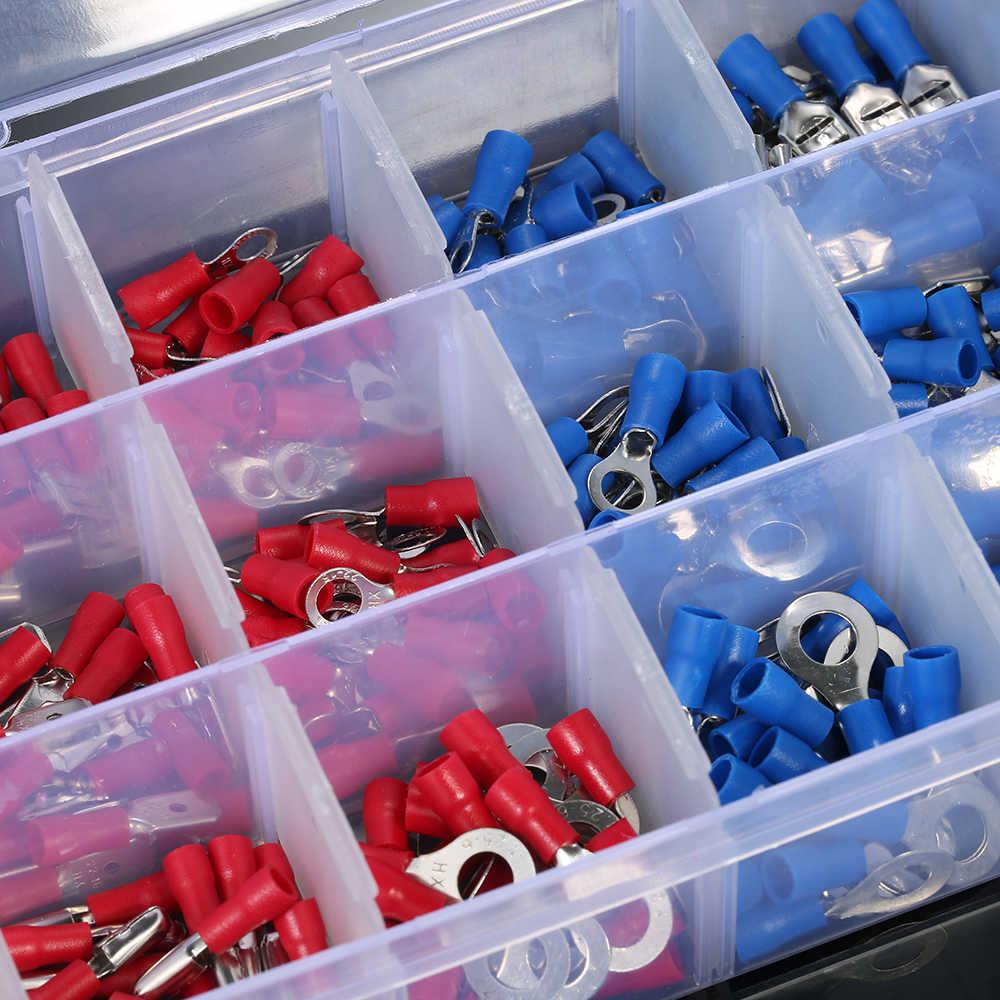 360 Pcs Assorted Insulated Terminal 9 Jenis Tembaga Crimp Listrik Terminator Kawat Kabel Konektor Terminal Kit Spade Set