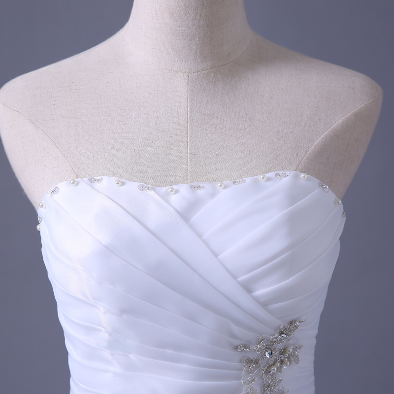 Gratis verzending 2014 nieuwe collectie bruids trouwjurk, trouwjurk - Trouwjurken - Foto 4